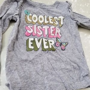 Caters Grey and Pink toddlers top 2T